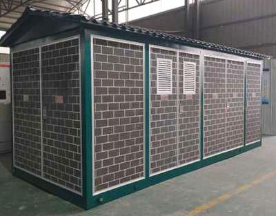 喷砂砖块式箱式变电站